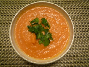 Carrot and celery root soup